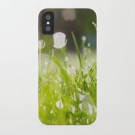 grassy morning iPhone Case