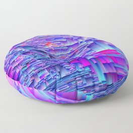 Squiffy Glitches - An Abstract Floor Pillow