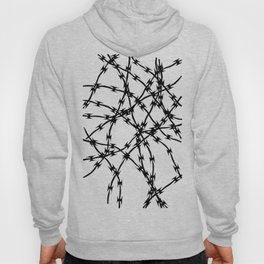 Trapped Black on White Hoody