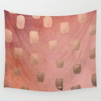 copper Wall Tapestries featuring Copper Splotch by Lisa Argyropoulos