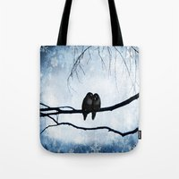 lovers Tote Bags featuring Lovers by SensualPatterns