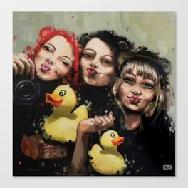 DFS - Duck face syndrom Canvas Print