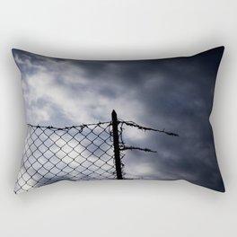 Fence broken hope blue Rectangular Pillow