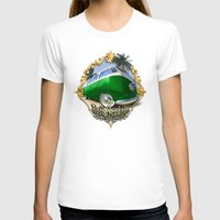 vw bus T-shirts featuring VW T1 Bus - Just cruisin' by GET-THE-CAR