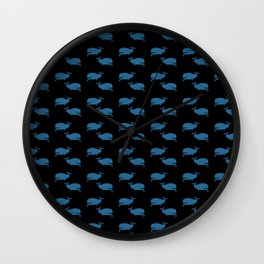 Pipe Whale Wall Clock