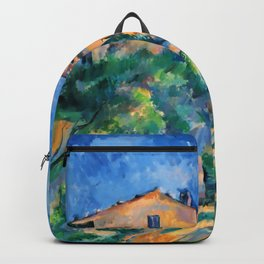 """Paul Cezanne """"Maison Maria with a View of Chateau Noir"""" Backpack"""