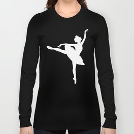 Pink and white Ballerina Long Sleeve T-shirt