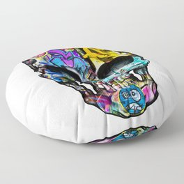 Human Graffiti Skull. Floor Pillow