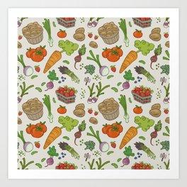 Farmer's Market: Veggies & Fruit Art Print