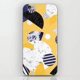 Yellow and Blue Circles iPhone Skin