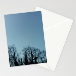 Fog and Forest- wood,mist,romantic, greenery,sunset,dawn,Landes forest,fantasy Stationery Cards