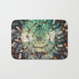 Bees: Masters of Time and Space Bath Mat