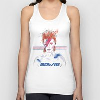 bowie Tank Tops featuring Bowie by Usagi Por Moi