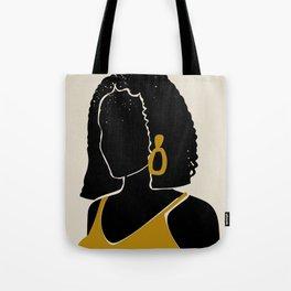 Black Hair No. 11 Tote Bag