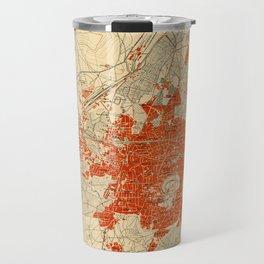 Map Of Aleppo 1929 Travel Mug