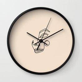 Minimalist femme, almond Wall Clock