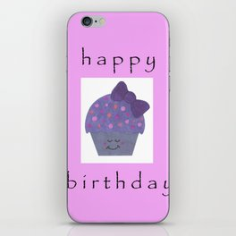cupcake birthday card iPhone Skin