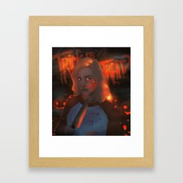 Betty Cooper HALLOWEEN Framed Art Print