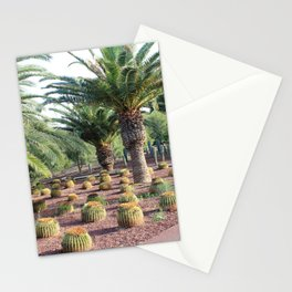 Tropical landcsape with cactus and Palm trees Stationery Cards