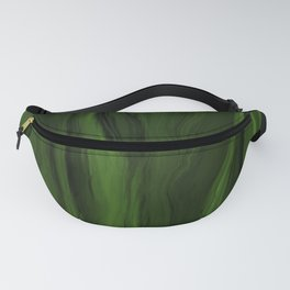 Marblesque Green and Black - Abstract Marble Art Series Fanny Pack