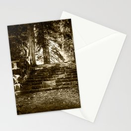 Ruin, Very Old Steps in Forest Stationery Cards