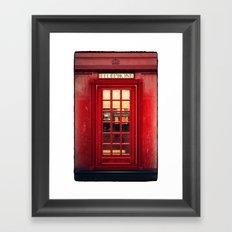 Magical Telephone Booth Framed Art Print