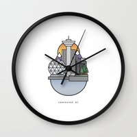 vancouver Wall Clocks featuring Vancouver by Ryan Molag Design & Photo