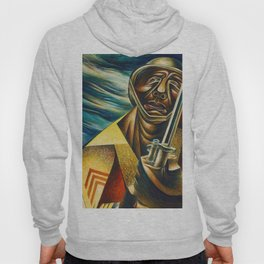 African-American 1944 Classical Masterpiece 'Black Soldier' by Charles White Hoody