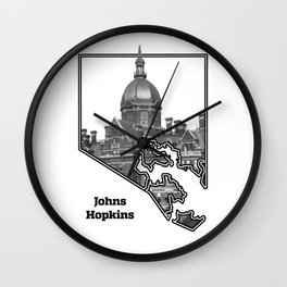 Hopkins White Wall Clock