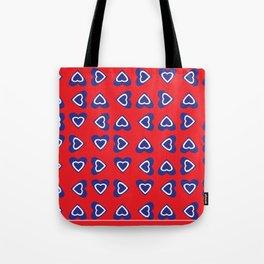 July 4th Hearts-USA Tote Bag