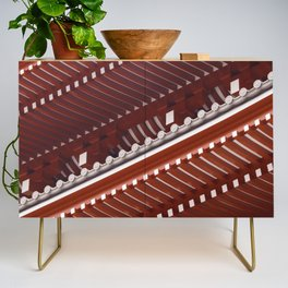 Pagoda roof pattern Credenza