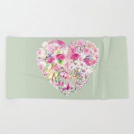 Blush Heart Beach Towel