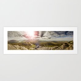 Ireland Mountain Landscape Panorama Art Print