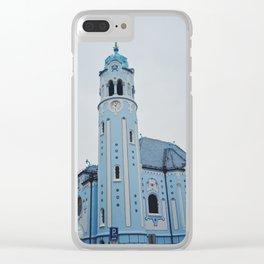 Blue Church Bratislava Slovakia Clear iPhone Case