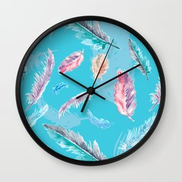 Feathery Dream Wall Clock