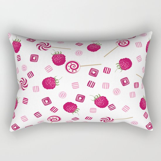 Candy sweets lollipops Raspberry Rectangular Pillow