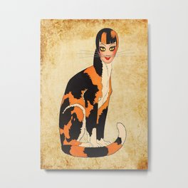 Cat-Woman Metal Print