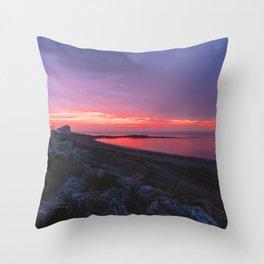 Sunset in Gaspésie Throw Pillow