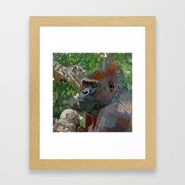 Crazy Paint - Gorilla Framed Art Print