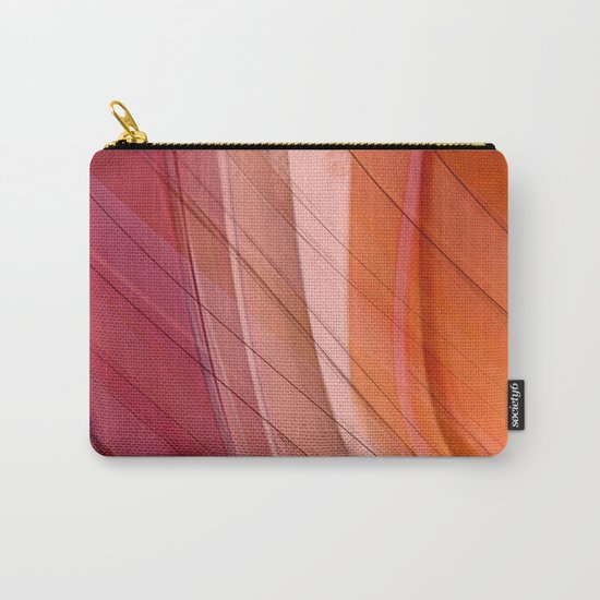 Colorgradient purple and orange Carry-All Pouch