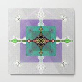 Sacred Healing Resonant Mandala Metal Print