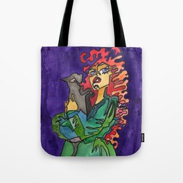 Cat and Her Witch Tote Bag