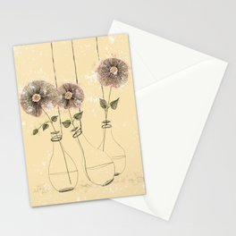 Flowers in hanging vases  Stationery Cards