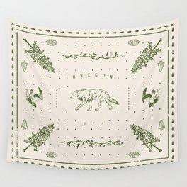 Vintage Oregon (Cream) Wall Tapestry