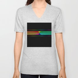 Team Colors 5...Multi-colored Unisex V-Neck