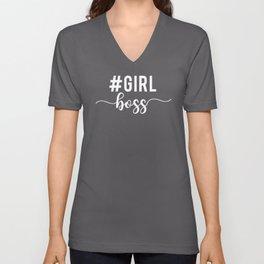 Girl Boss, #girlboss Unisex V-Neck