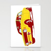 Stationery Cards featuring Fiat 128 by Susana Costa Real