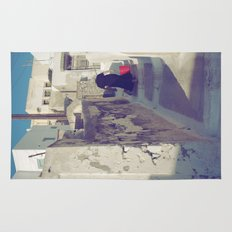Streets of Santorini IV Rug