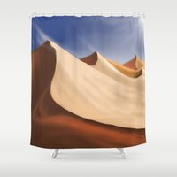 desert Shower Curtains featuring Desert by Turul