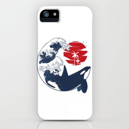 Wave Killer Whale iPhone Case